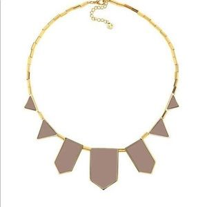 New House of Harlow  Leather Station Necklace